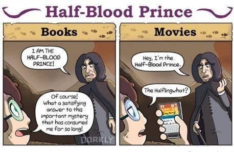 Differences Between Harry Potter Books & Movies    Harry