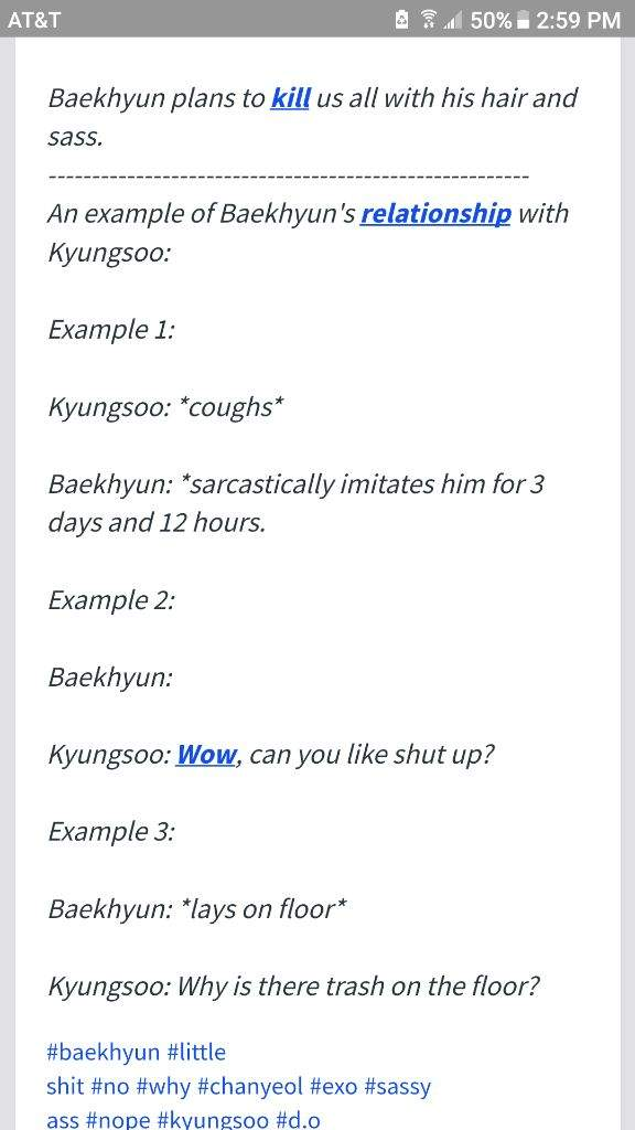 what you get when you search baekhyun on urban dictionary exo