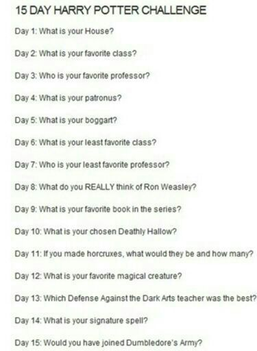 Hp 30 Day Challenge Day Two Harry Potter Amino