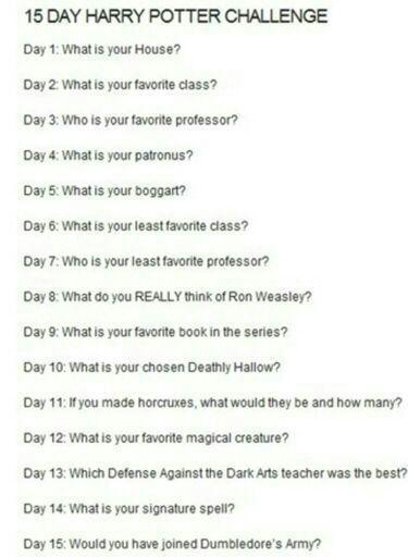 Day 13 Of 15 Days Harry Potter Amino