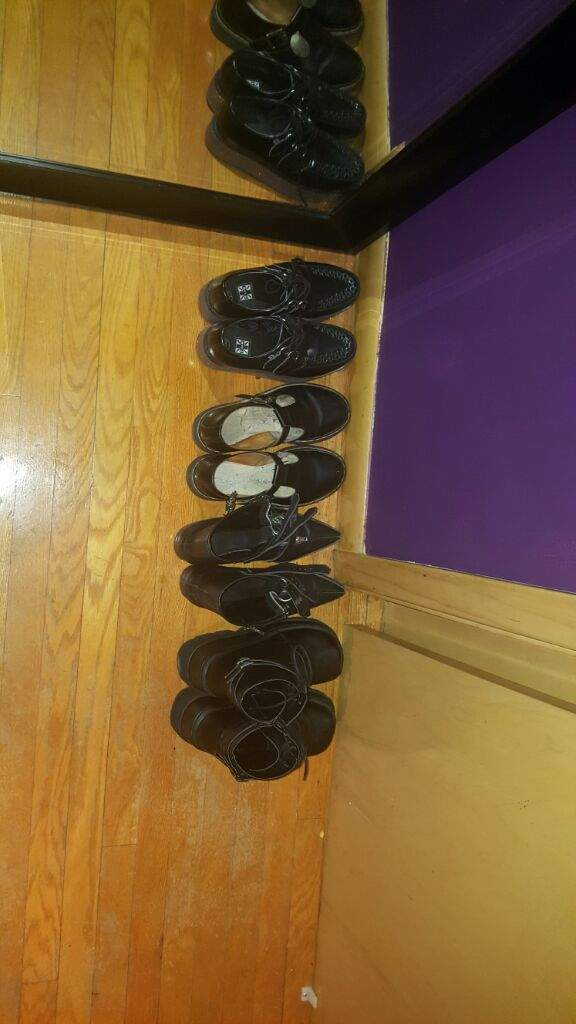 Here Is My Small And Still Growing Shoe Collection Creepers Mary Janes Pikes And My Notorious Shaker 52 Demonia Platforms Not Pictured 14 Hole Dr