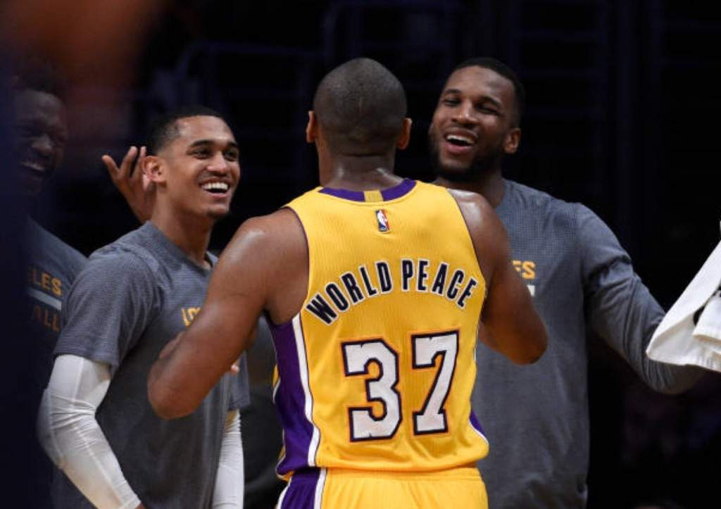 94489fa2b49 Metta World Peace Wins the Lakers 2017 Teammate of the Year Award. At the  end of last year s preseason Los Angeles Lakers head coach Luke Walton and  the ...