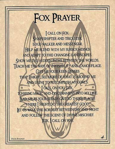 Familiarspirit Animals Fox Pagans Witches Amino