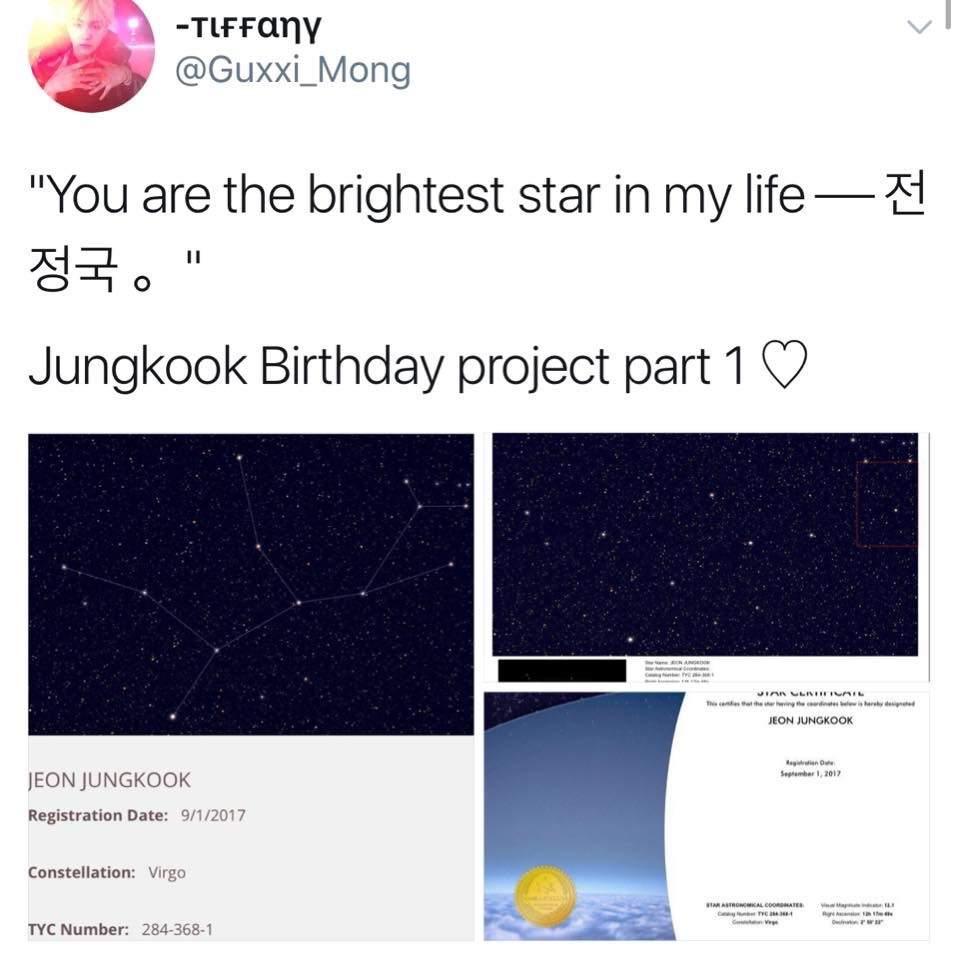 bintang buat Jungkook BTS