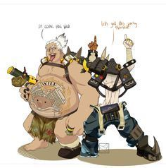 WHAT IF WE MADE ROAD HOG LIKE JUNKRAT AND JUNKRAT LIKE ROAD