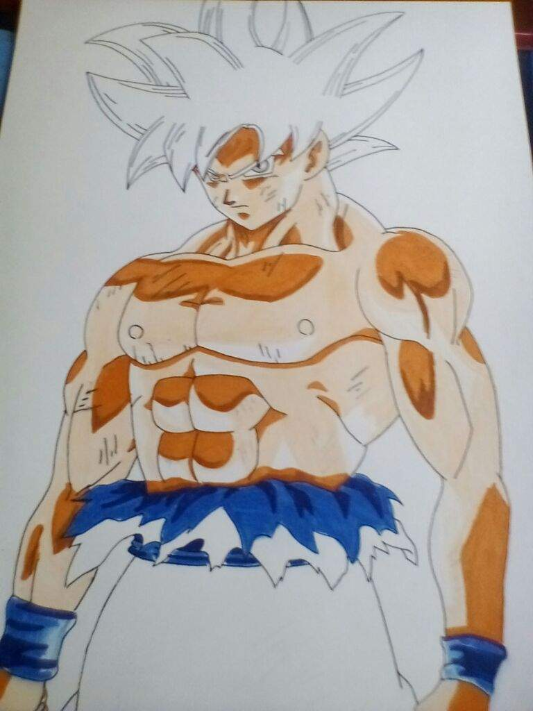 Dibujo de goku Limit Breaker   ⚡ Dragon Ball Super Oficial ...