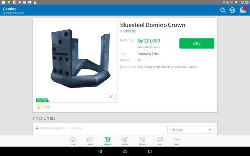 Bluesteel Domino Crown Wiki Roblox Amino