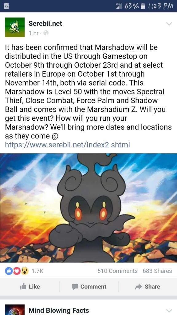 Marshadow event! | Pokémon Amino