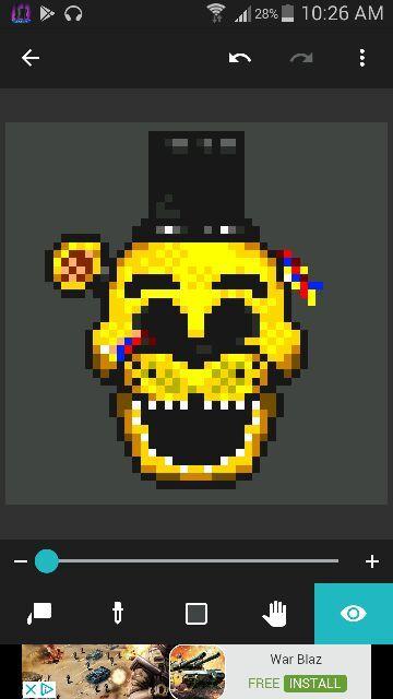 Golden Freddy Pixel Art Five Nights At Freddys Amino