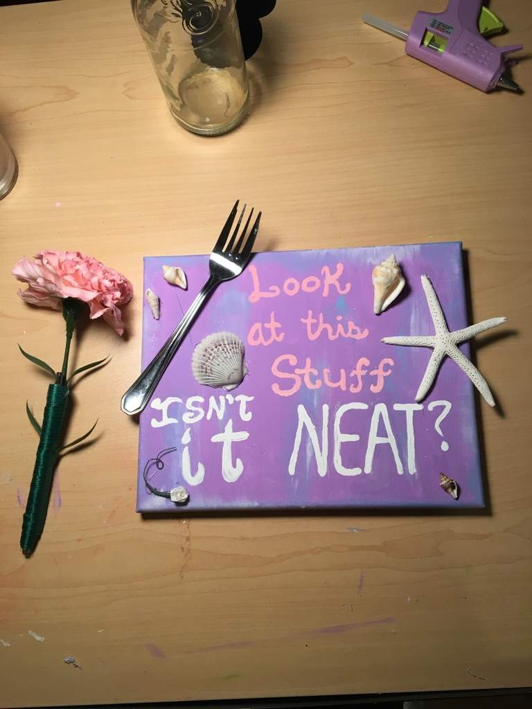 Today I Will Show You How To Make An Ariel Canvas Love This DIY Because It Is So Much Fun And Cute Know Too