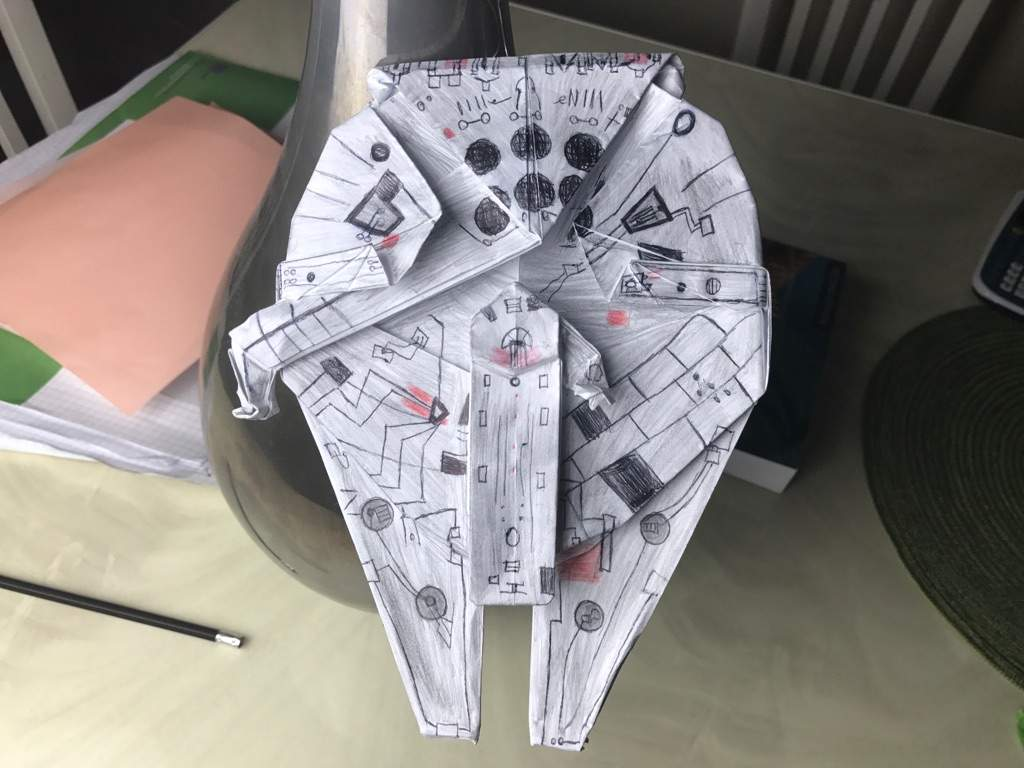 Origami Millennium Falcon And Tie Fighter Origami And Paper Crafts