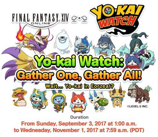 EVENT] Final Fantasy XIV x Yo-kai Watch Event    Again! | Yo-Kai
