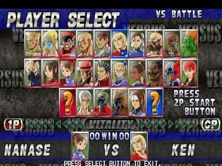 Select Character Street Fighter Amino