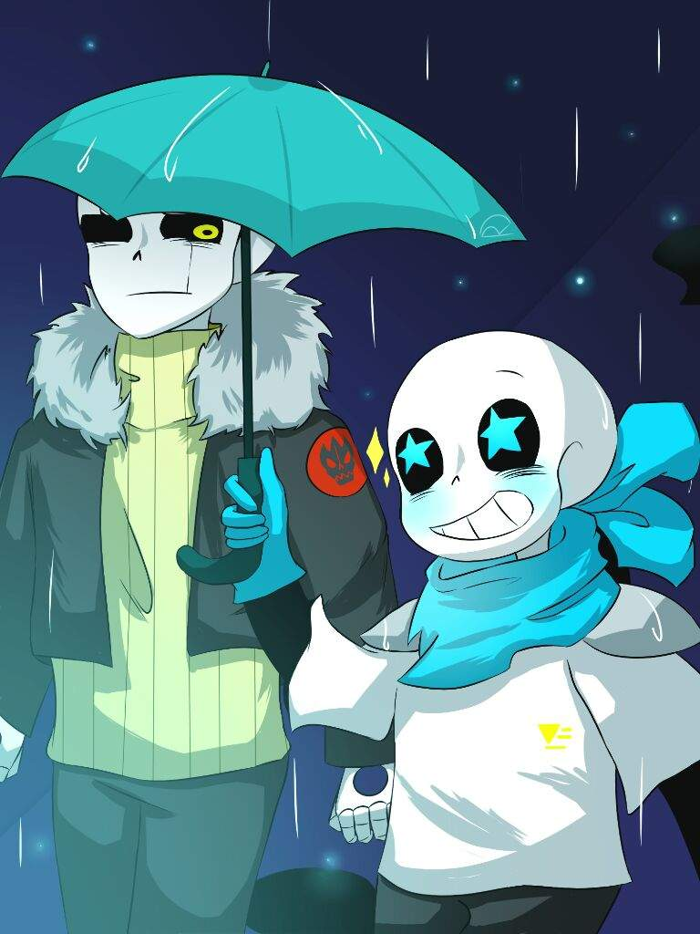 Walking Together With An Umbrella Undertale Aus Amino