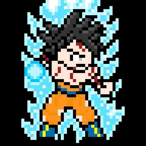 Pixel Art De Goku Limit Breaker