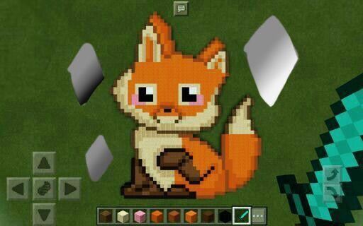 fox pixel art curatorreview minecraft amino