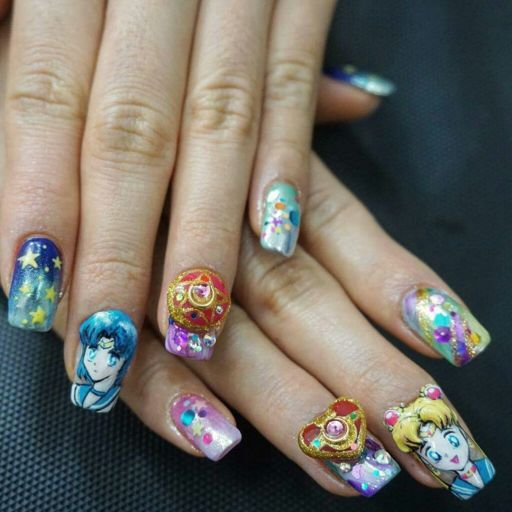 Uñas Sailor Moon Wiki Pastel Goth Amino