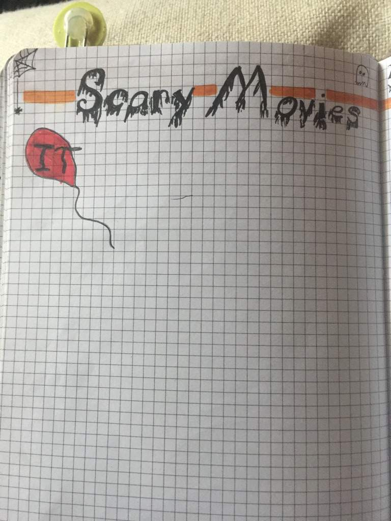 Scary Movie Tracker Bullet Journal Amino