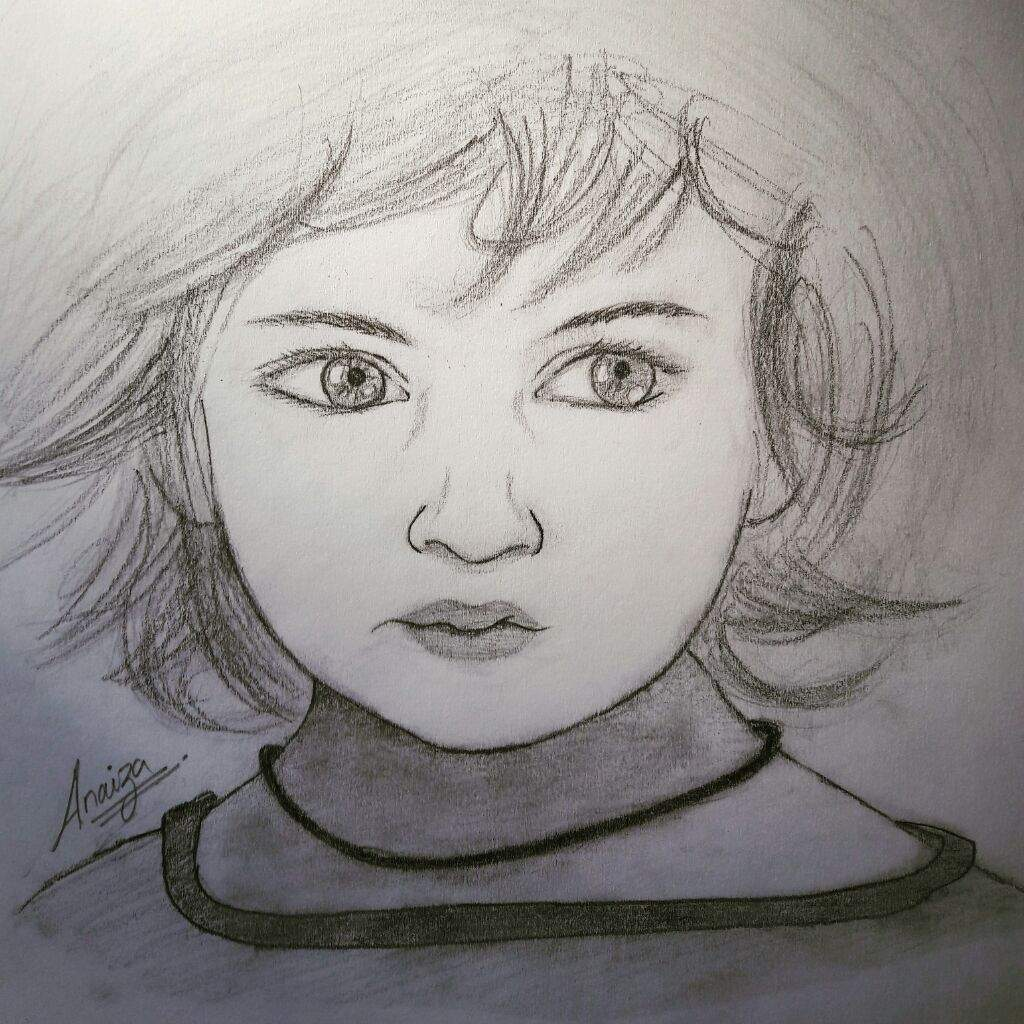 Baby girl sketch drawn by me