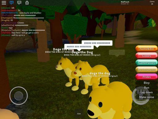 Doge Sonic Roblox Doge In Tiger Sim Roblox Amino
