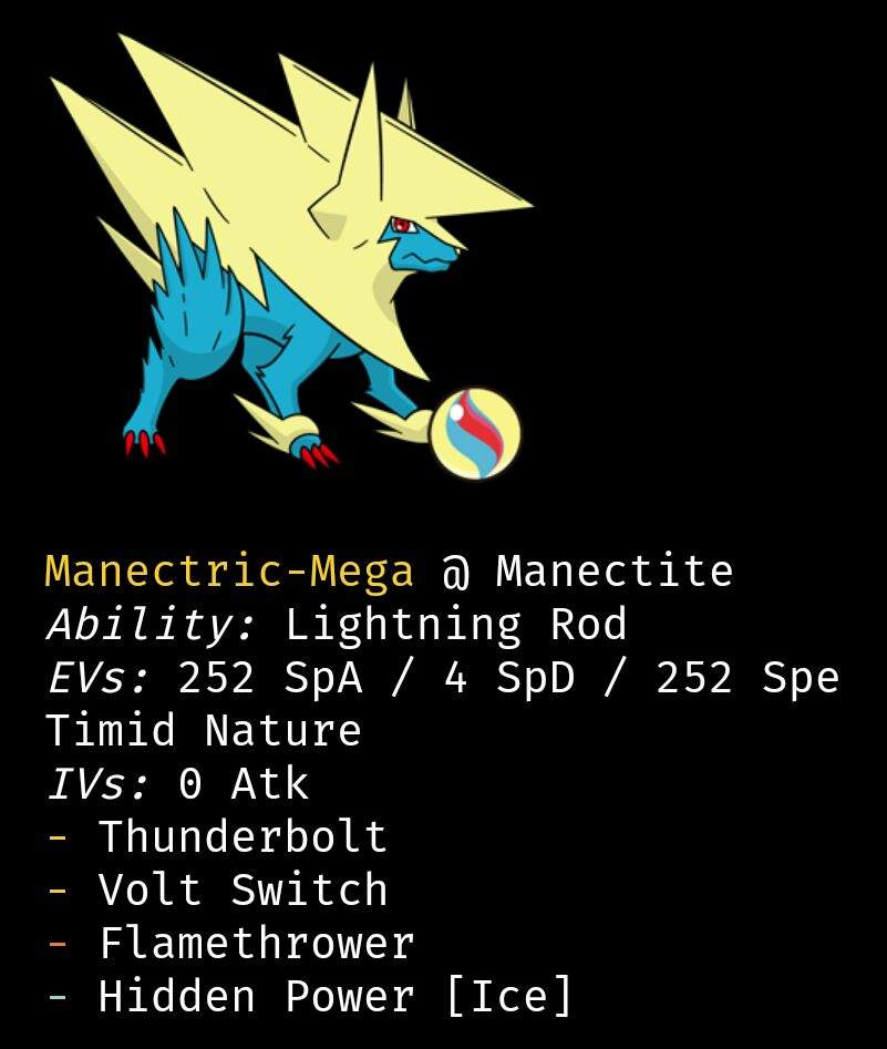 Everything a pokemon needs. For abillity we can only intimidate but for pre-evolution abillity lighting rod is the best.  sc 1 st  Amino Apps & Mega manectric UU teambuilder | Pokémon Amino azcodes.com