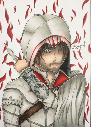 Ezio Auditore Anime Drawing Assassins Creed Art Amino