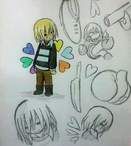 frisk cute with soul in hand