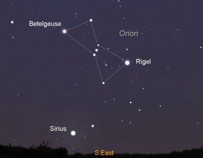 Rigel Star Orion