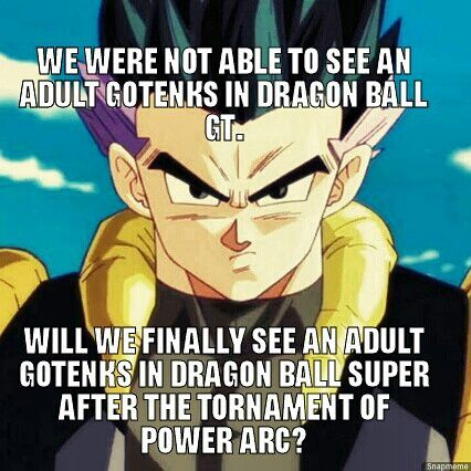 Adult Gotenks In Super This Is The First Dragon Ball Super Meme
