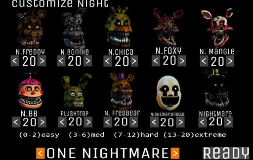 CUSTOM NIGHT FNAF 4 | Five Nights At Freddy's Amino