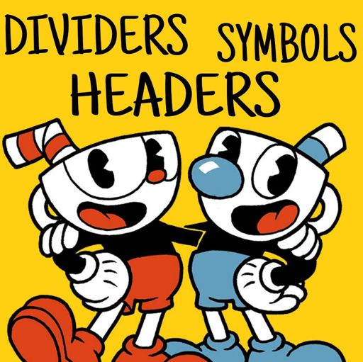 Headers Symbols Dividers Wiki Cuphead Official Amino