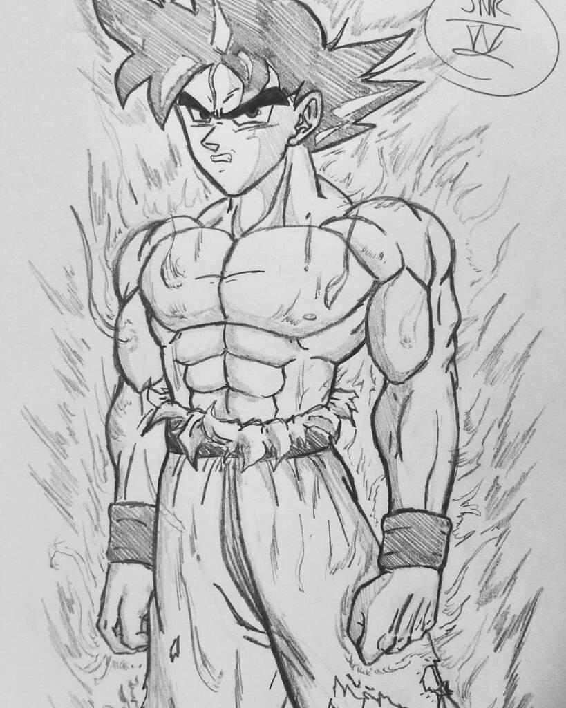 Ultra instinct son gok drawing dragonballz amino - Goku ultra instinct sketch ...