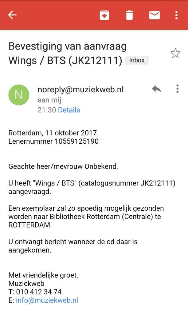 I requested WINGS for the central library of Rotterdam😀 | ARMY's