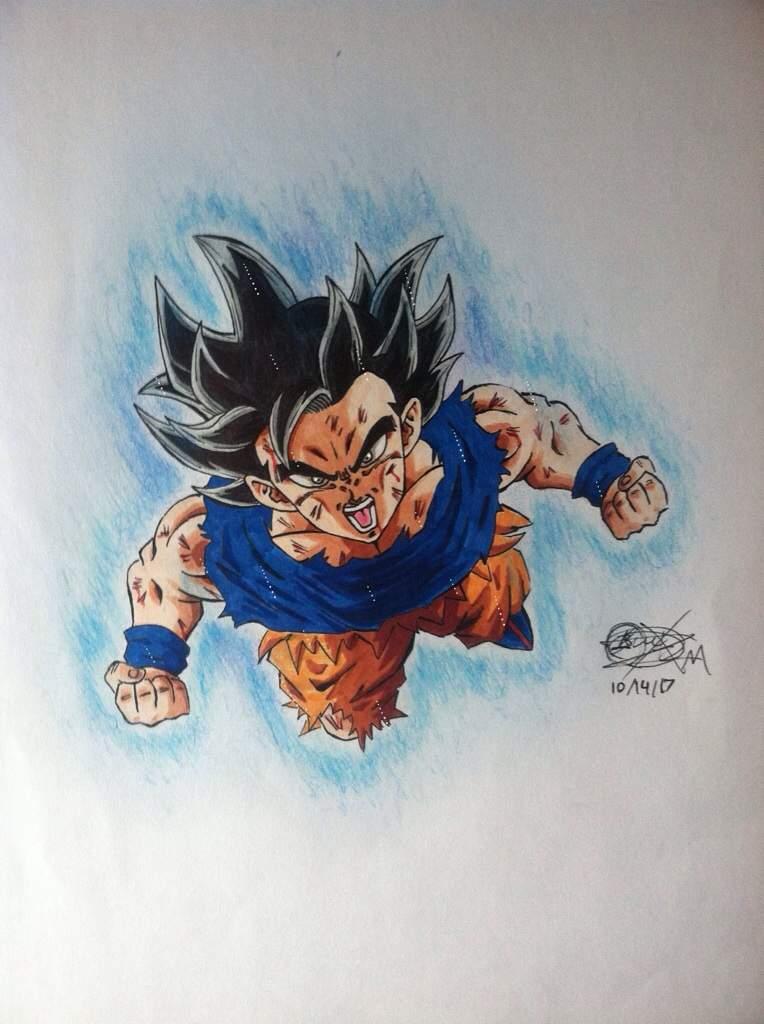 Drawing of ultra instinct goku dragonballz amino - Goku ultra instinct sketch ...