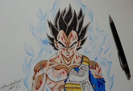 Ultra instinct vegeta drawing video dragonballz amino - Goku ultra instinct sketch ...