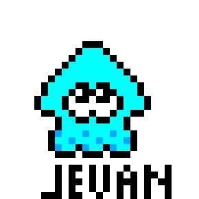 Chibi Squid Pixel Art Splatoon Amino