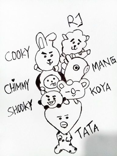 To Draw Bt21 Bts Army Indonesia Amino Amino