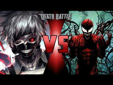 Basically Death Battle 3 Ken Kaneki Vs Carnage Tokyo Ghoul Vs