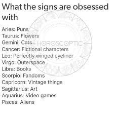 What signs are obsessed with   Zodiac Amino
