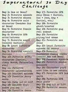Supernatural 30 Day Challenge 15 | Supernatural Amino
