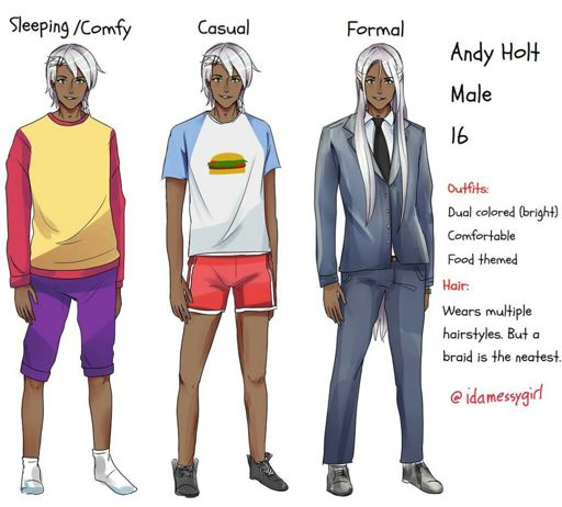 Andy Holt , Character Outfit References