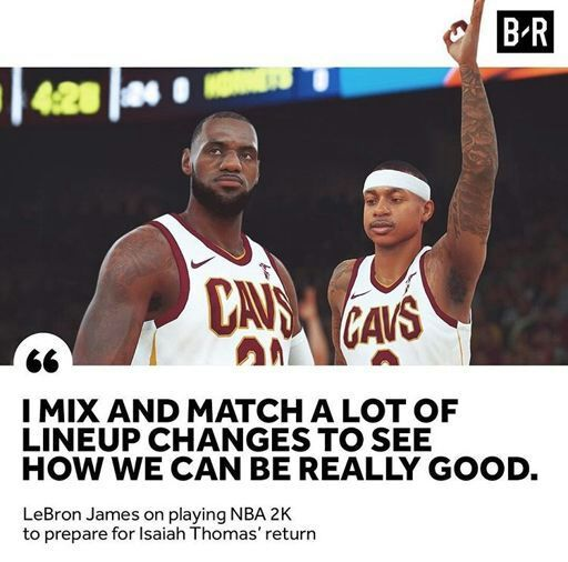f9baf4851290 LeBron James preparing for Isaiah Thomas  Cavs debut by playing  NBA 2K   video game