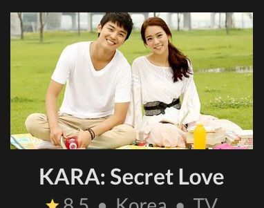 KARA:Secret Love | Wiki | K-Drama Amino