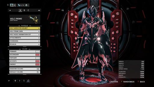 Volt Prime Color Scheme If Anyone Cant Think Of Anything Warframe Amino