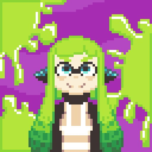 Splatoon Agent 3 And 4 Pixel Art Amino