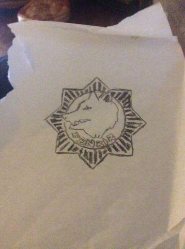 f324ef5df Fenrir tattoo doodle/stamp design wip | Danganronpa Amino
