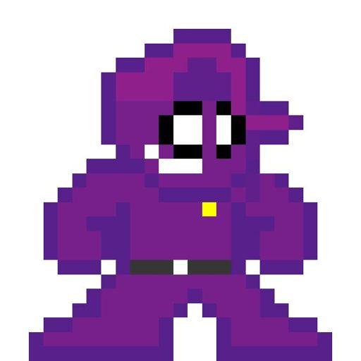 Pixel art del Hombre Morado | FNaF Amino [ Español ] Amino