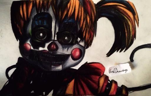 Scrap Baby drawing Five Nights At Freddy 39 s Amino