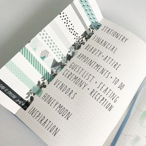 wedding bullet journal