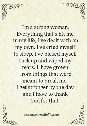 Strong Girl Quote | Trans Amino Amino